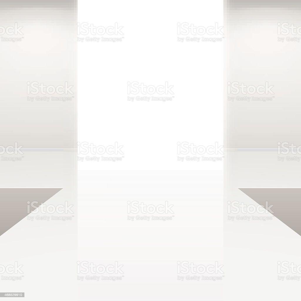 white interior fashion podium vector art illustration