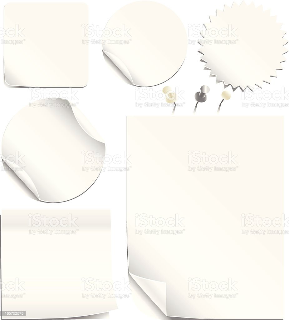 White Labels and Pages royalty-free stock vector art