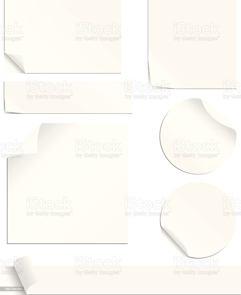 White Labels Set vector art illustration