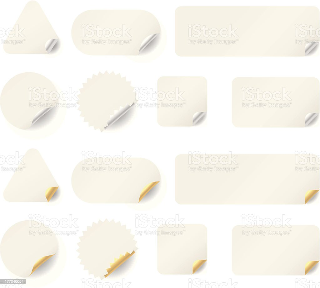 White Labels royalty-free stock vector art
