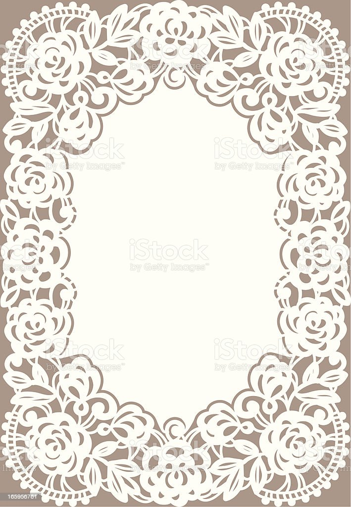 White Lace Card. royalty-free stock vector art