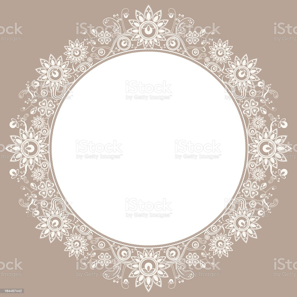 White lace design on brownish background royalty-free stock vector art