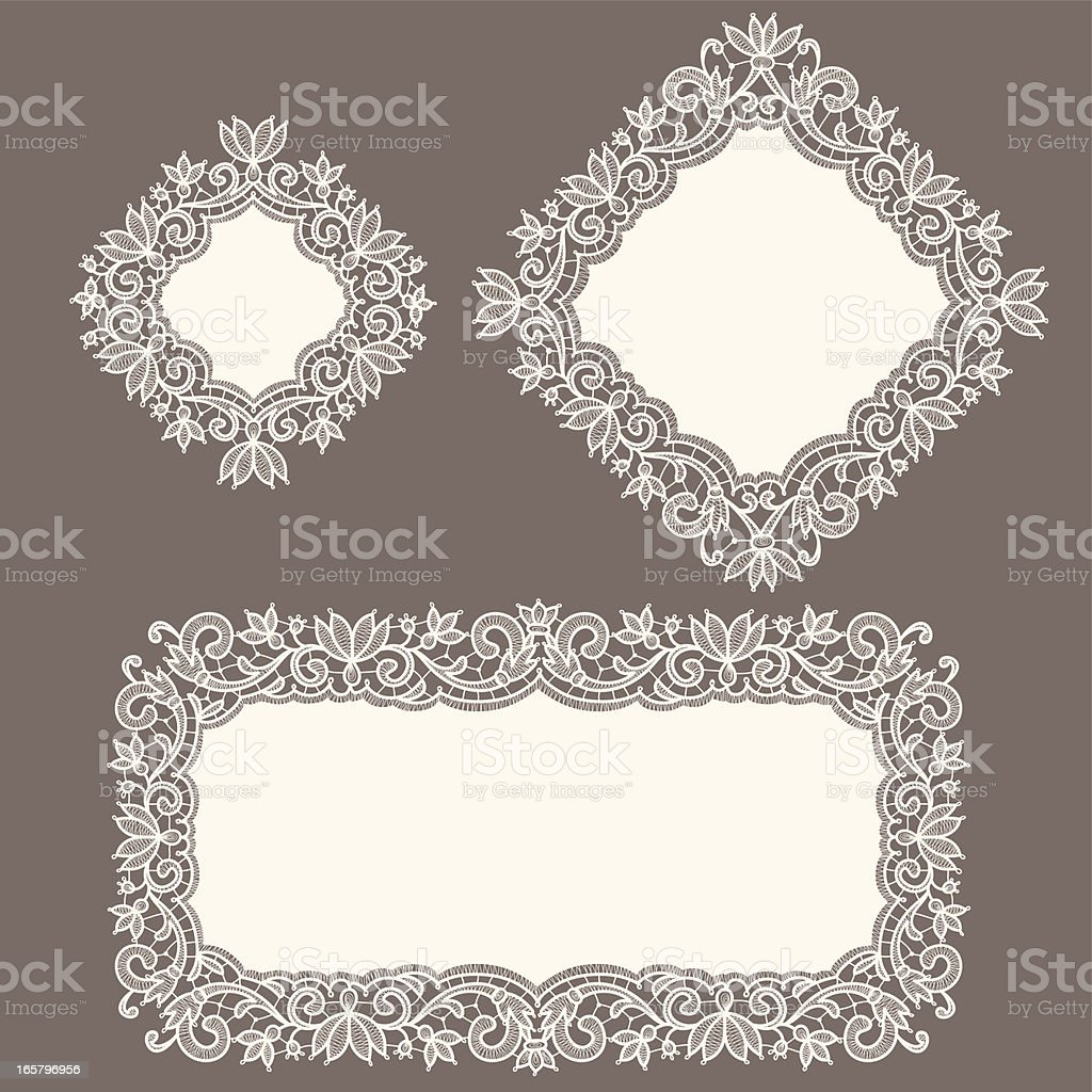White Lace. Doily. vector art illustration