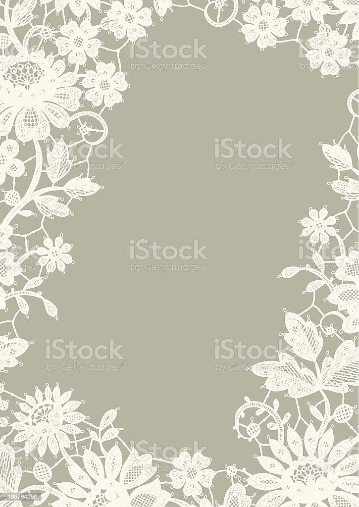 White Lace Frame. royalty-free stock vector art