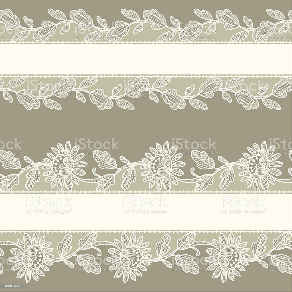White Lace. Horizontal Seamless Pattern. royalty-free stock vector art