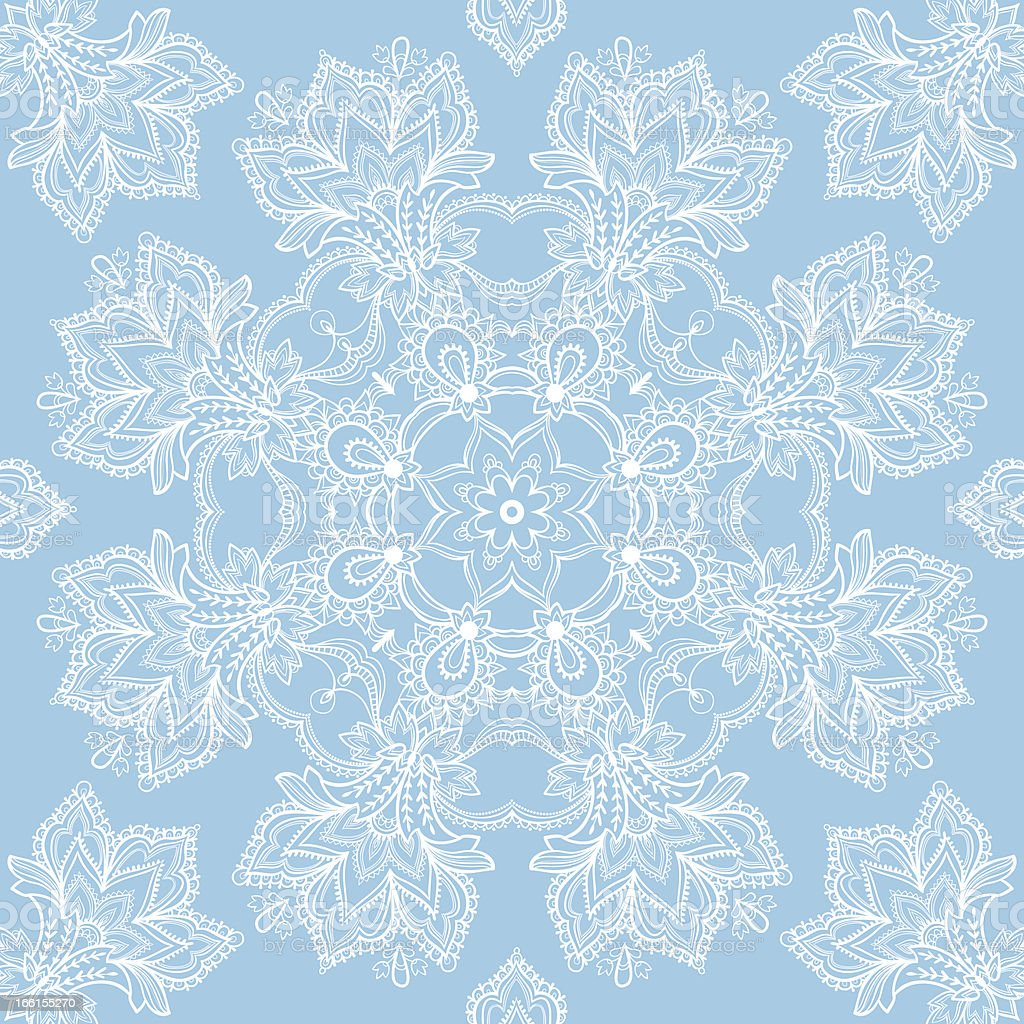 white lace on a blue background royalty-free stock vector art