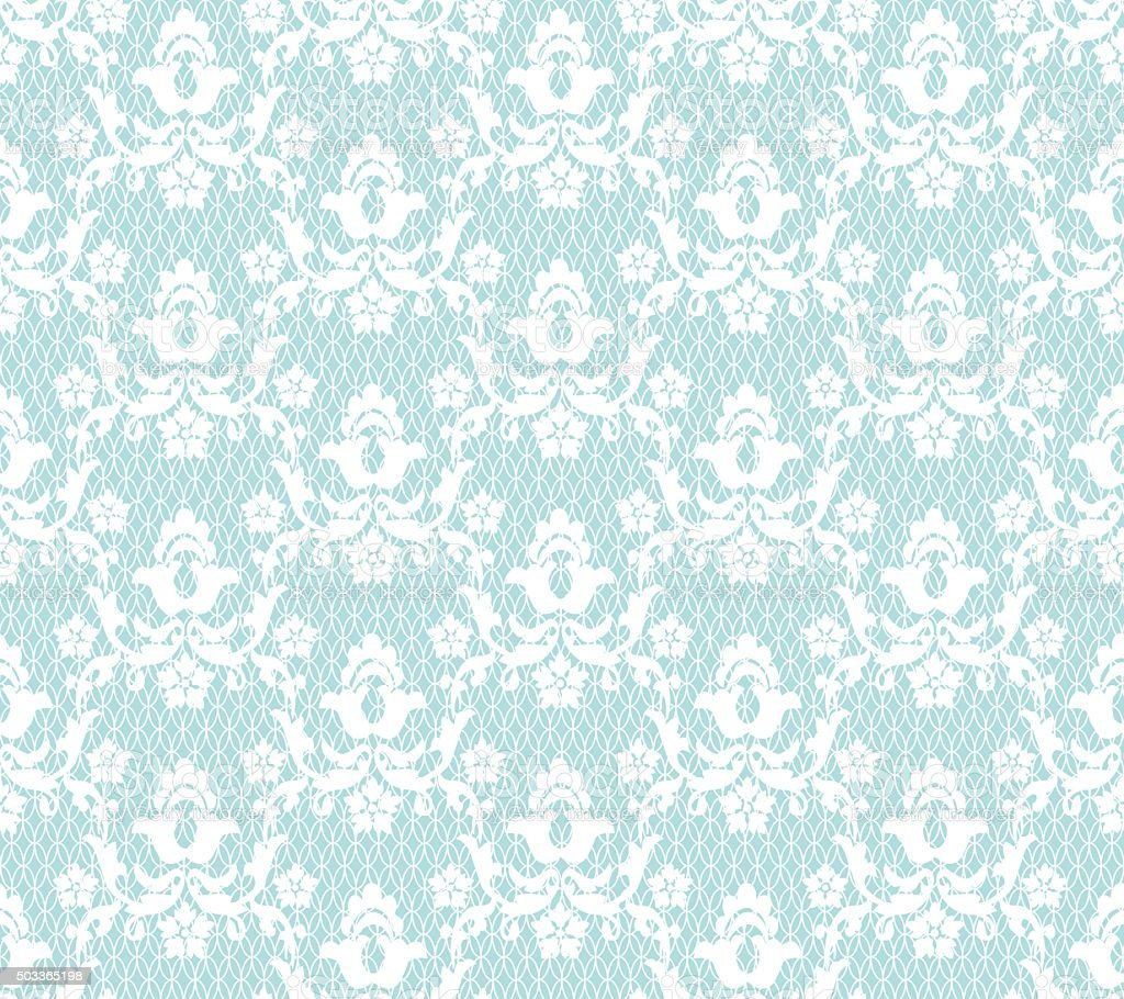 White lace pattern vector art illustration