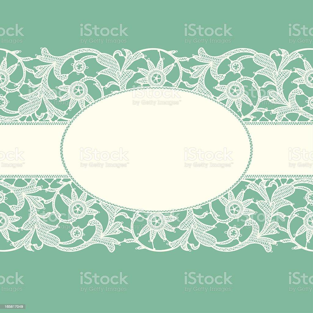 White Lace Ribbon. royalty-free stock vector art