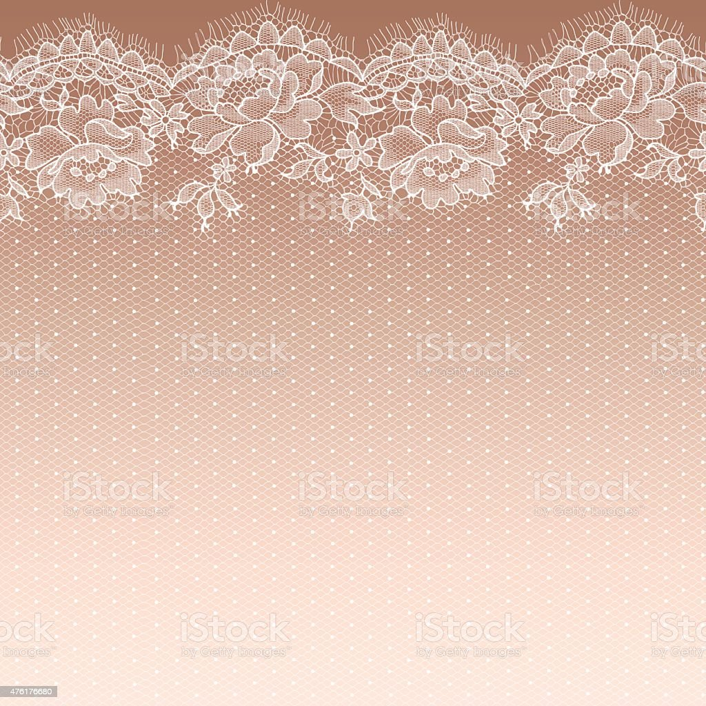White lace. Seamless Pattern. Gradient Background. vector art illustration