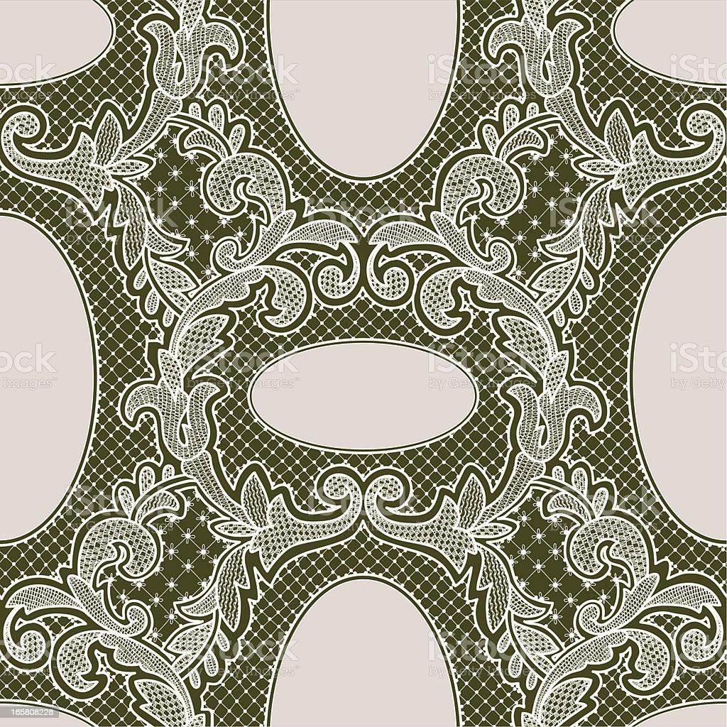 White Lace Seamless pattern. vector art illustration