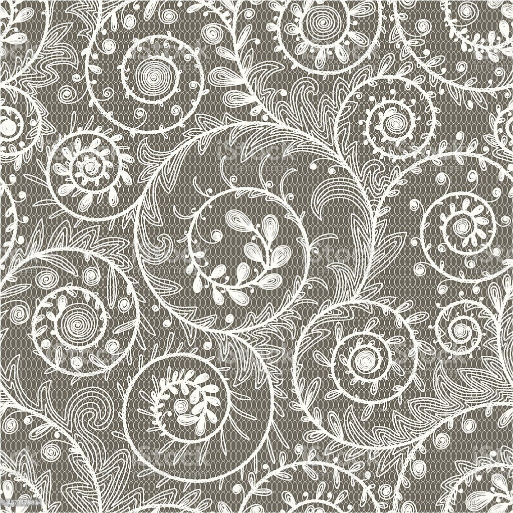 White Lace Seamless Pattern. royalty-free stock vector art