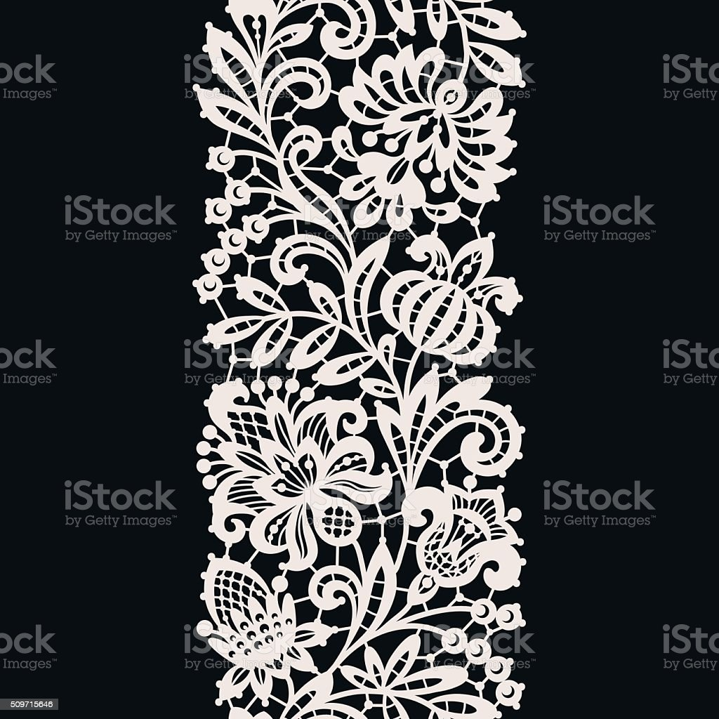 White Lace. Seamless Pattern. vector art illustration