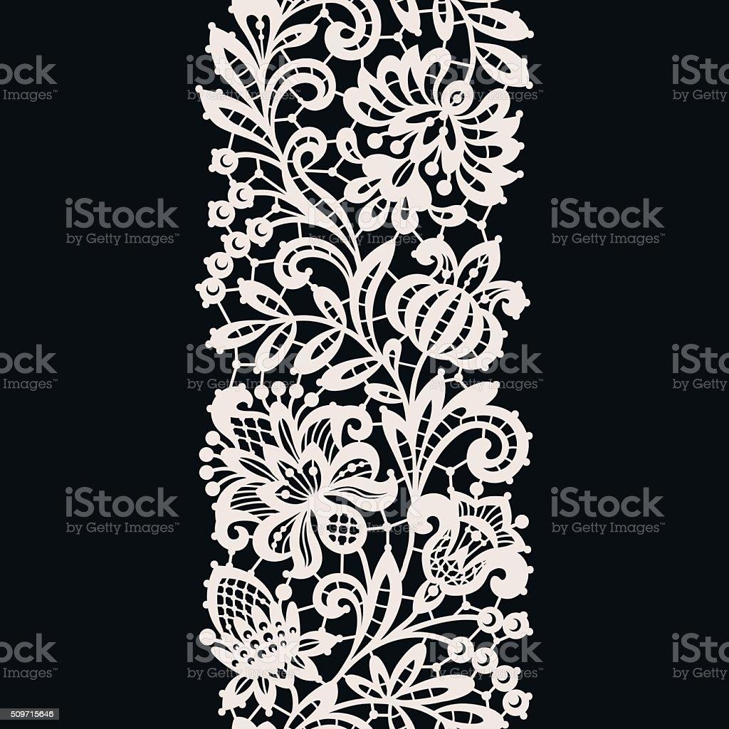 White Lace. Seamless Pattern. vector art illustration