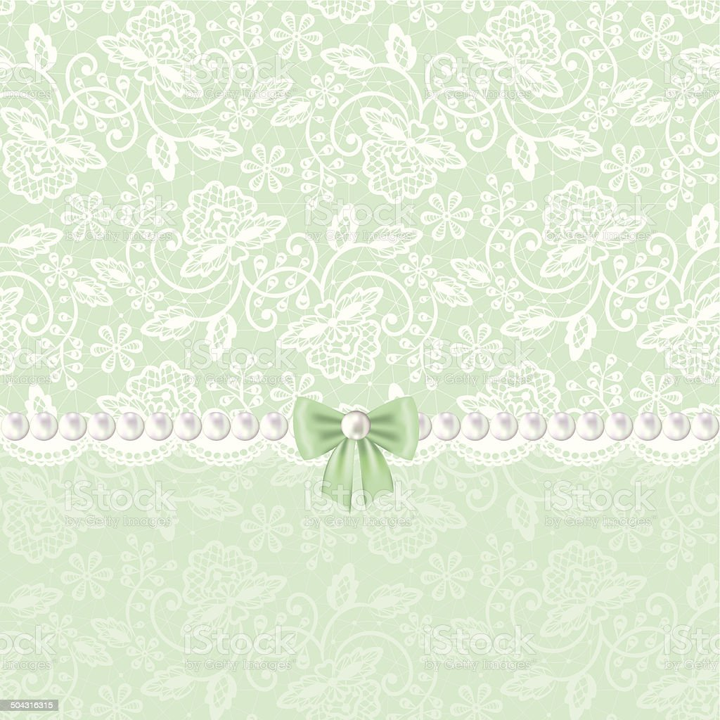 white lace vector art illustration