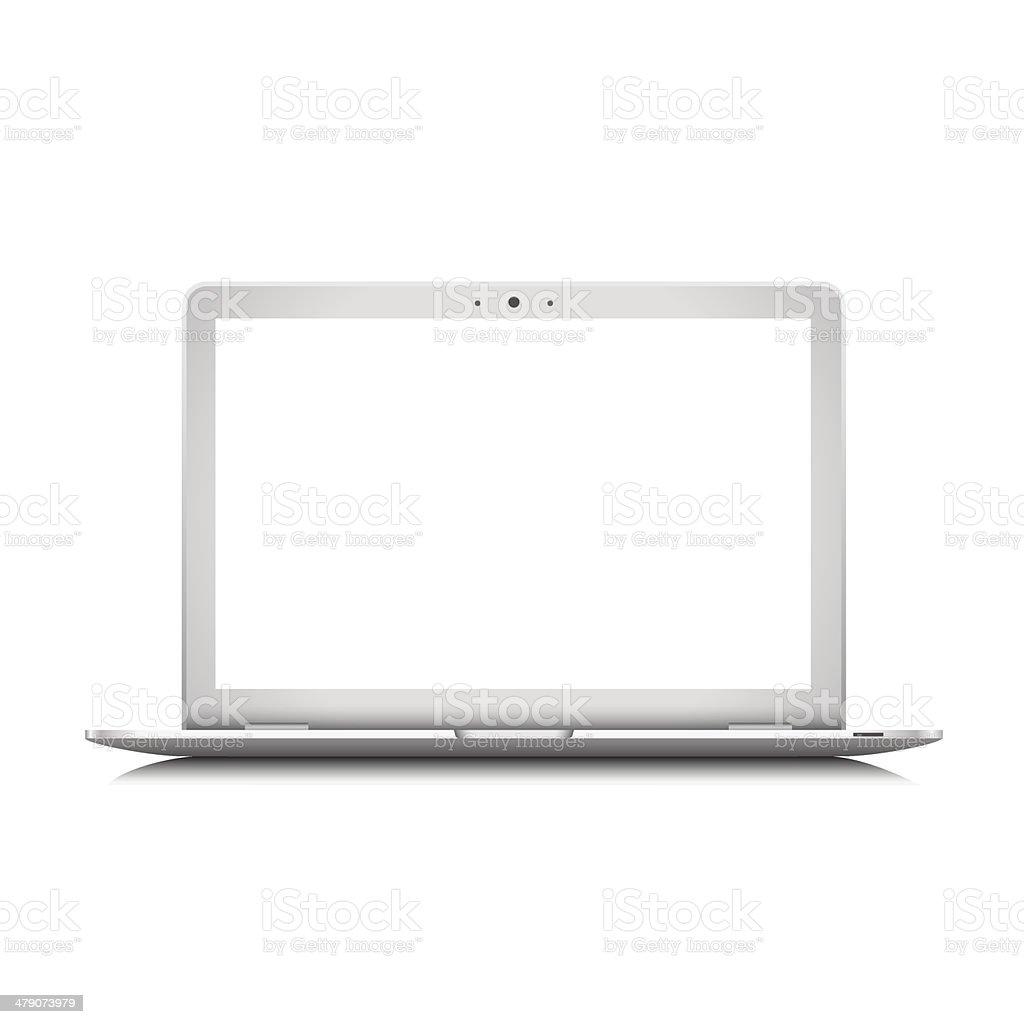 White laptop vector art illustration