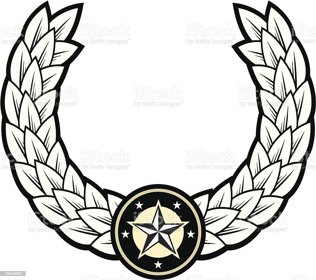 White laurel wreath royalty-free stock vector art