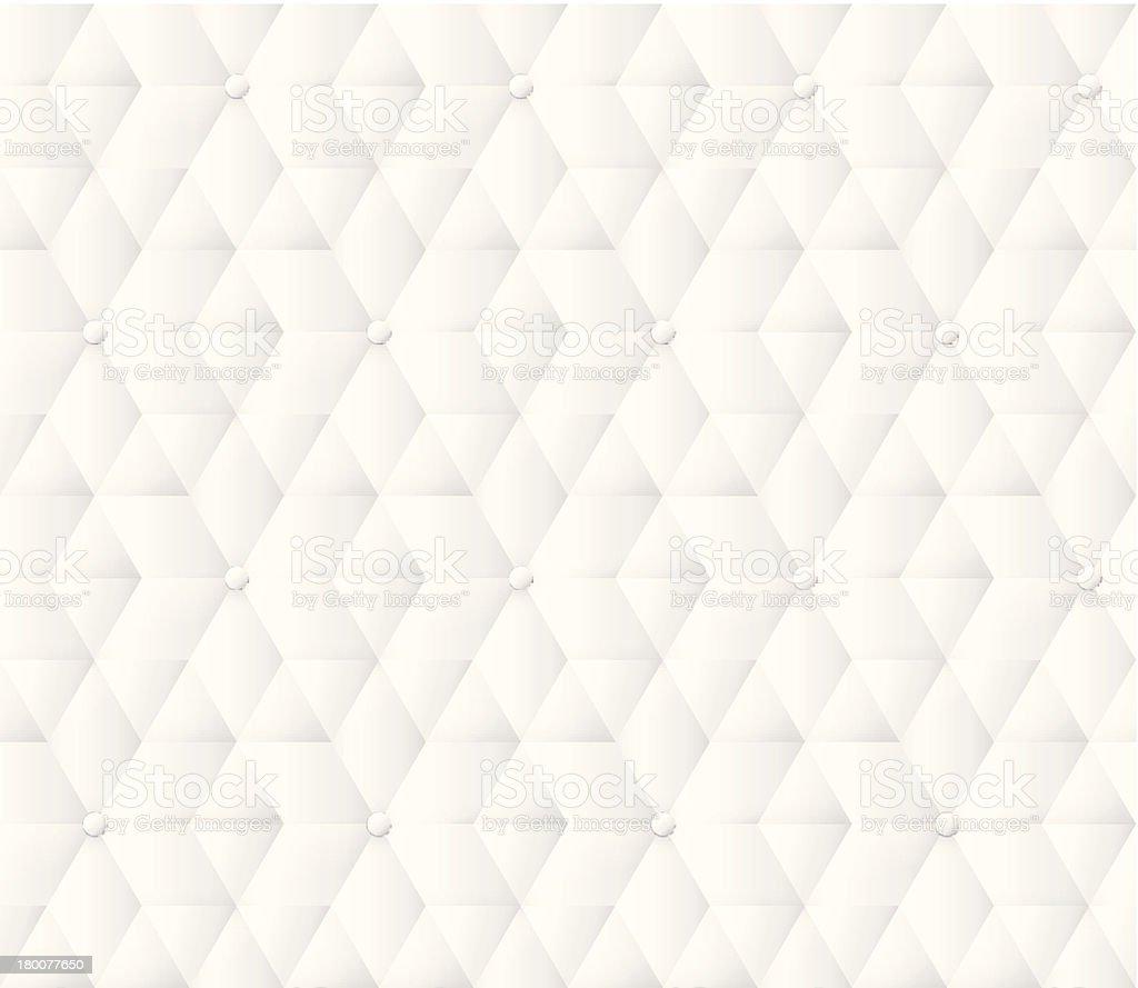 White leather upholstery pattern. vector art illustration