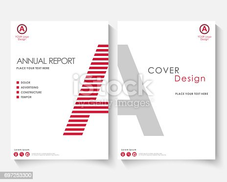 White Letter Annual Report Cover Design Template Vector Brochure ...