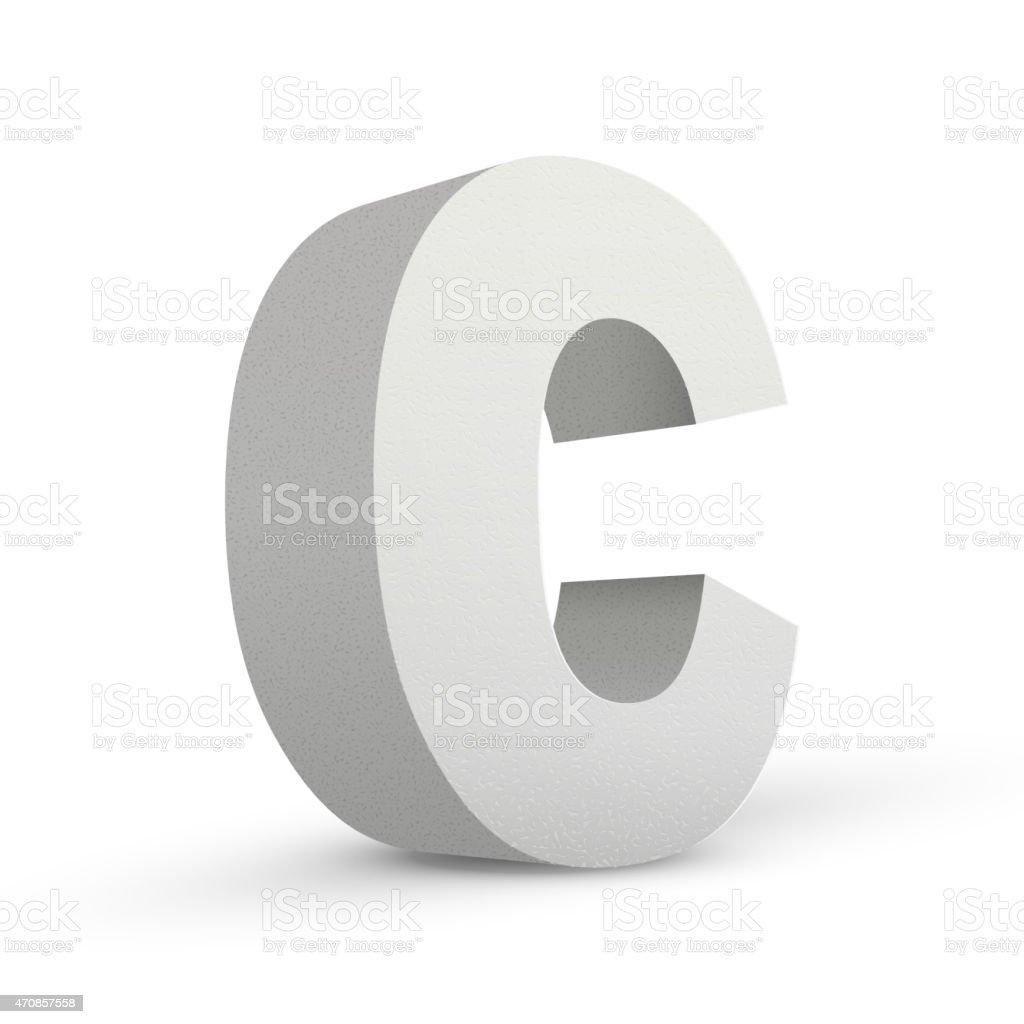 white letter C vector art illustration
