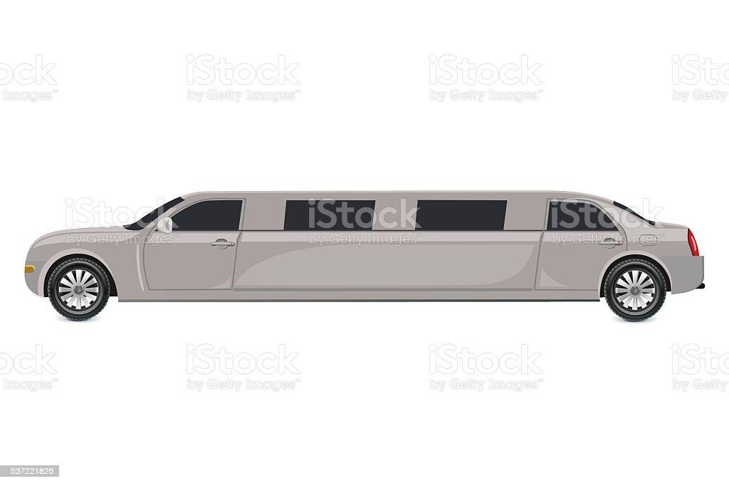 White limousine, vector illustration vector art illustration
