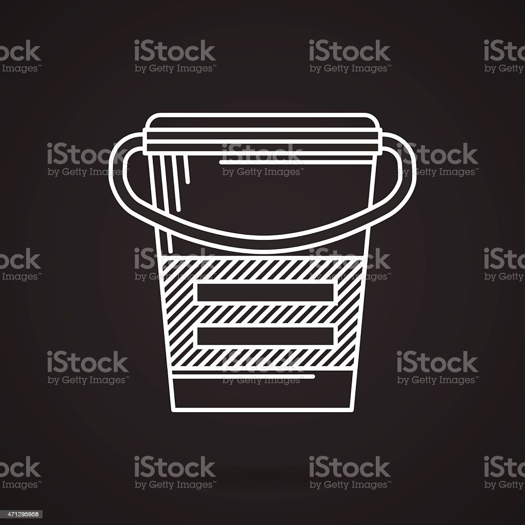 White line vector icon for meal replacement vector art illustration