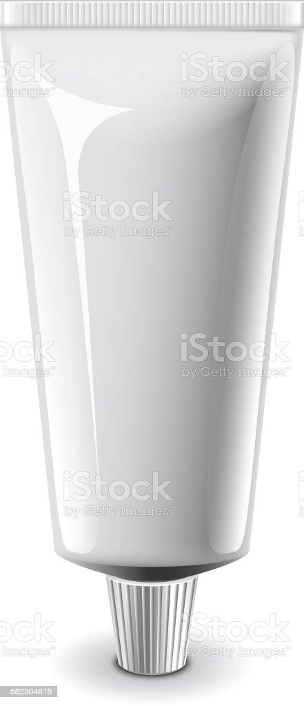 White medical cream tube isolated vector vector art illustration