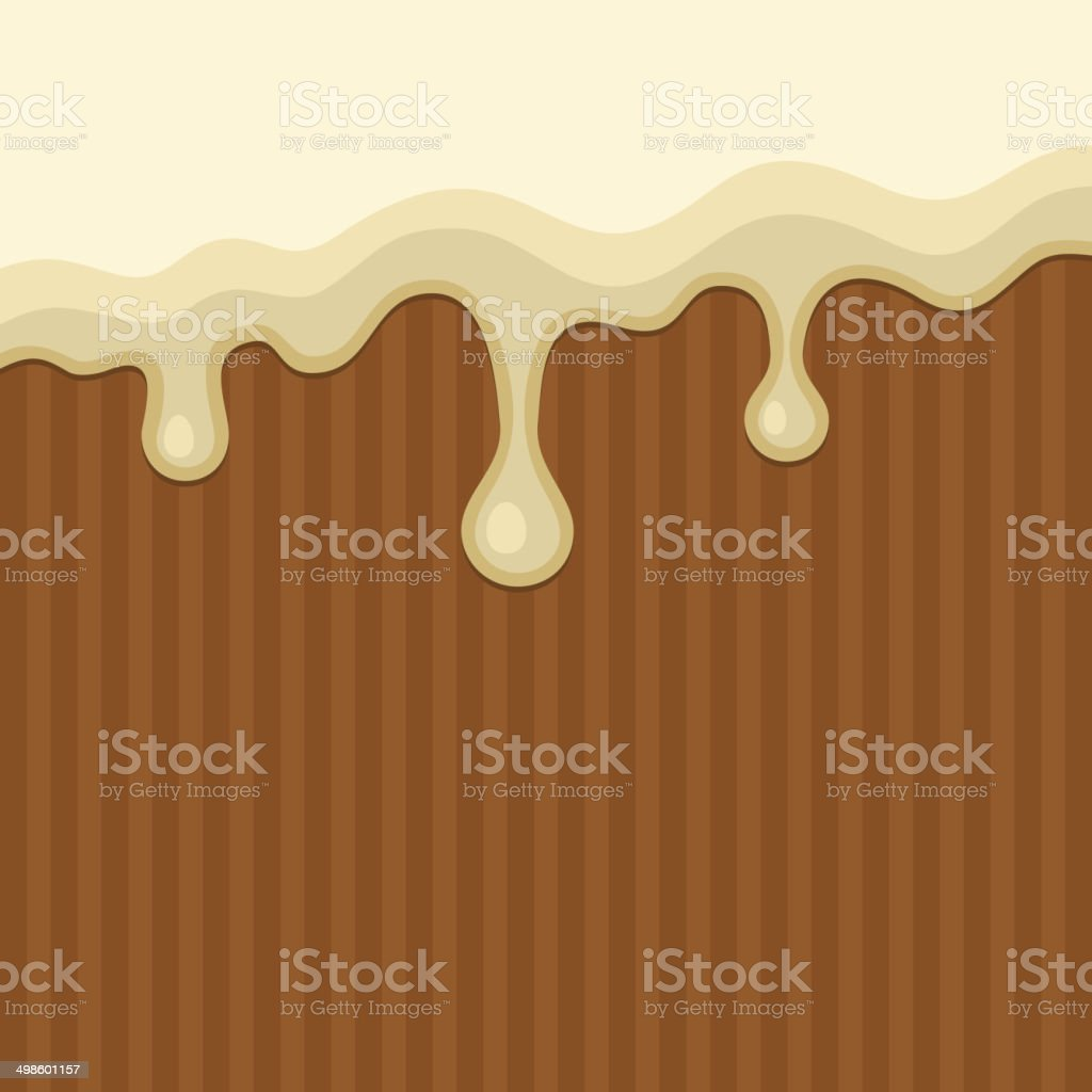 White Melted Chocolate Streams Background. Vector royalty-free stock vector art