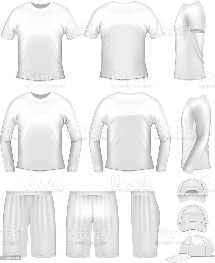 White men's clothing templates vector art illustration