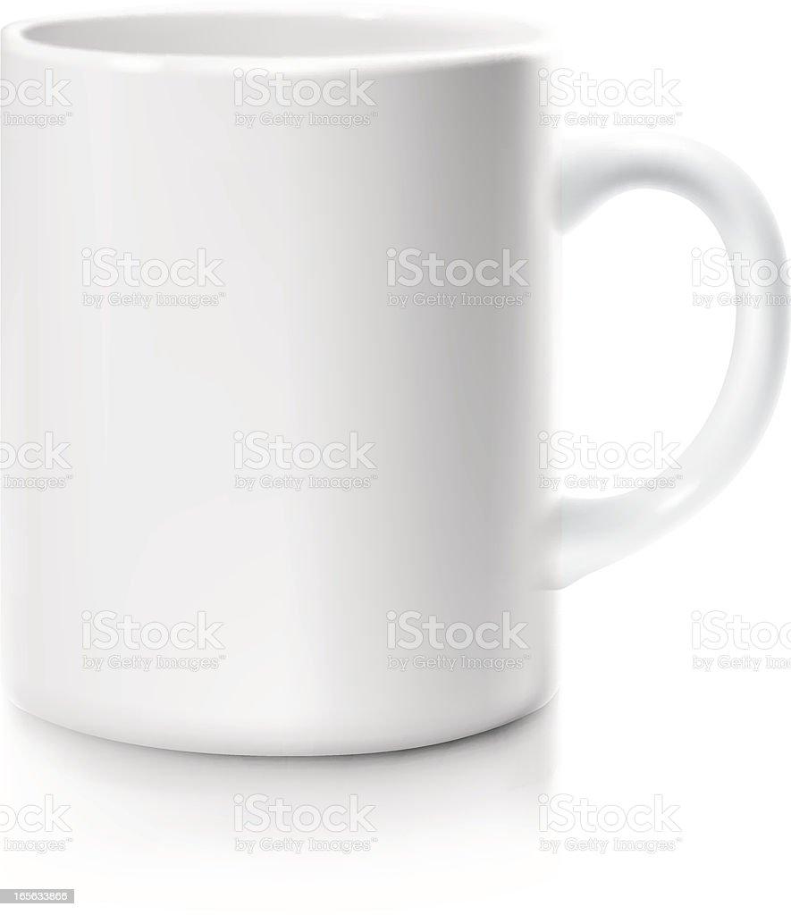 white mug vector art illustration