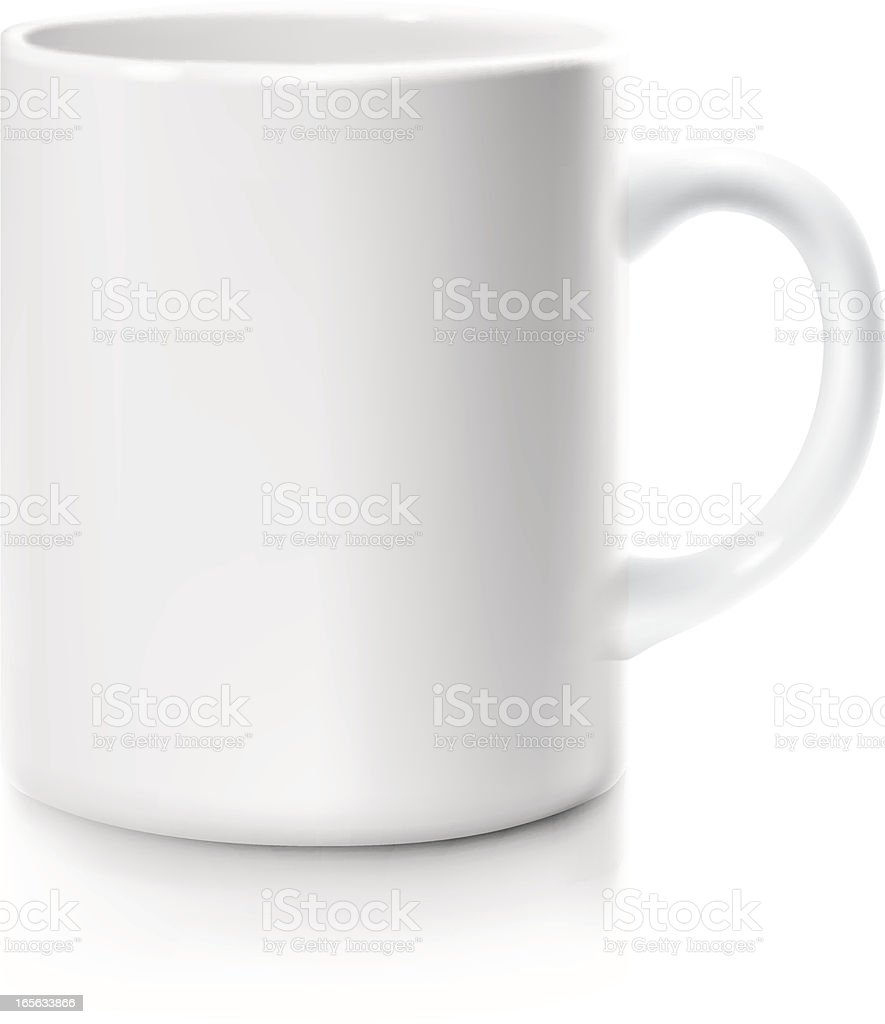 white mug vector art illustration