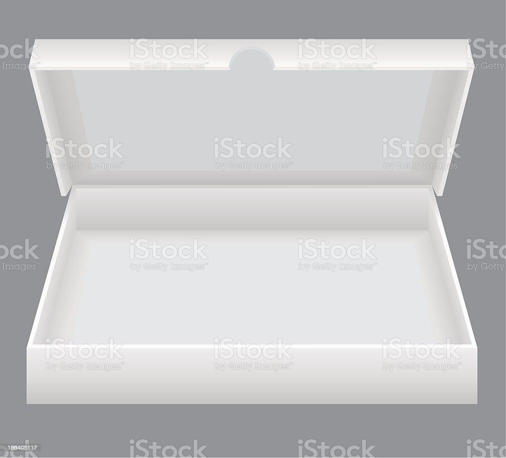 white open packing box vector illustration vector art illustration