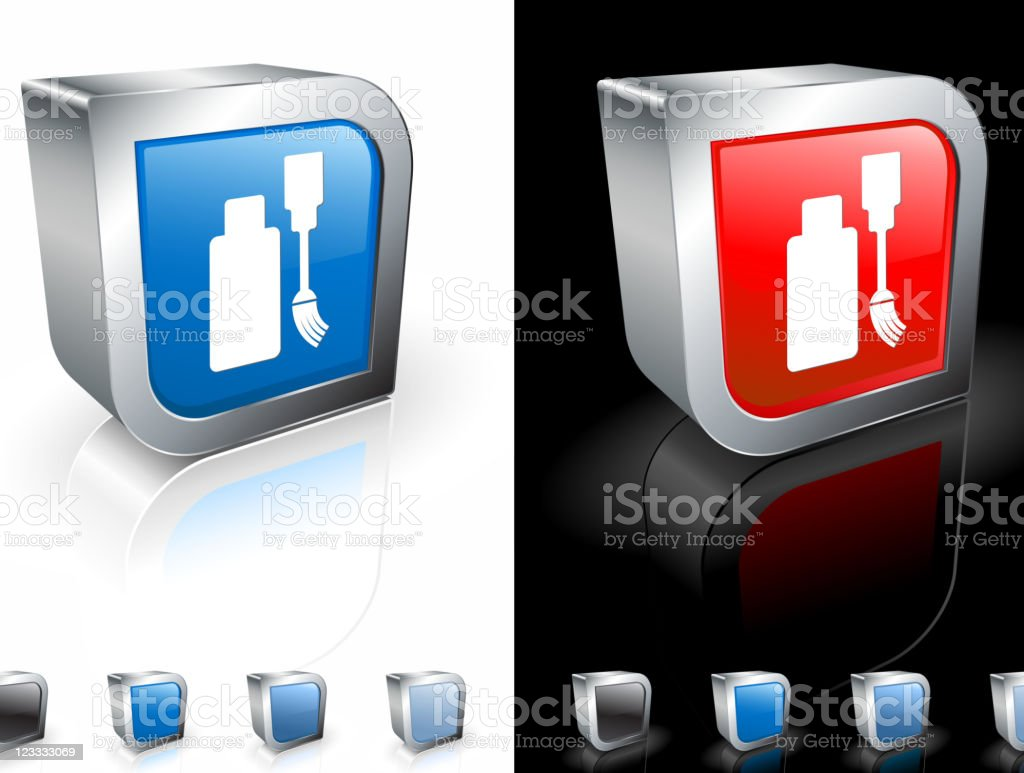 white out 3D royalty free vector art royalty-free stock vector art