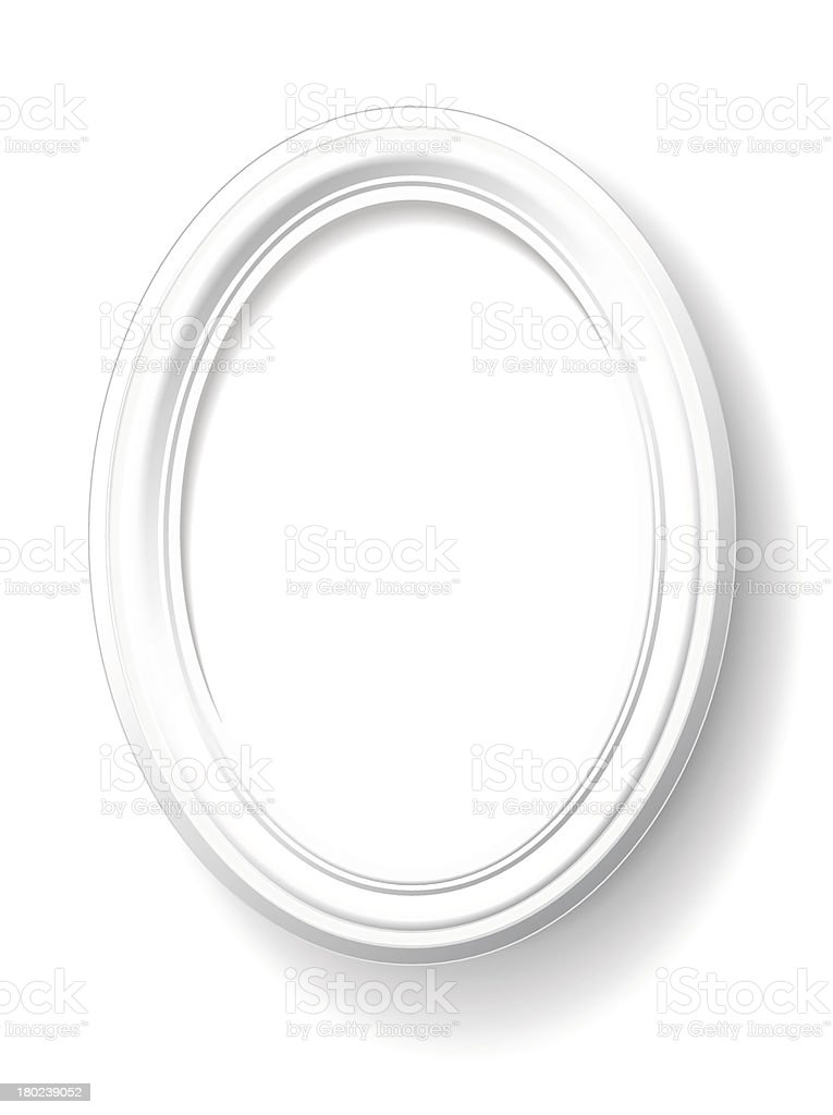 White oval frame. vector art illustration