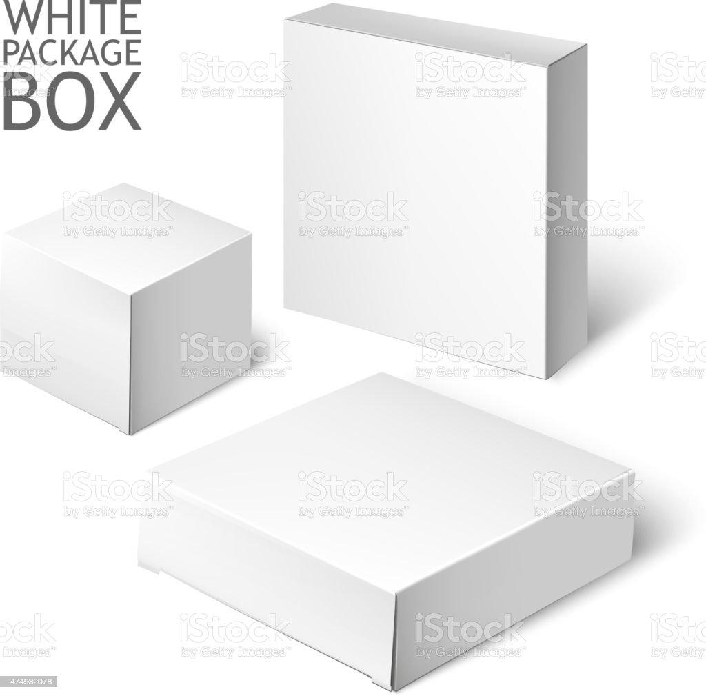 White Package Box. Mockup Template vector art illustration