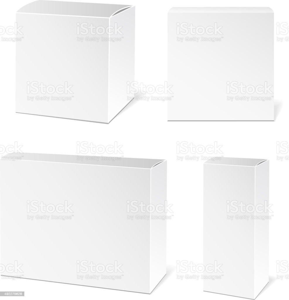 White Package Box vector art illustration