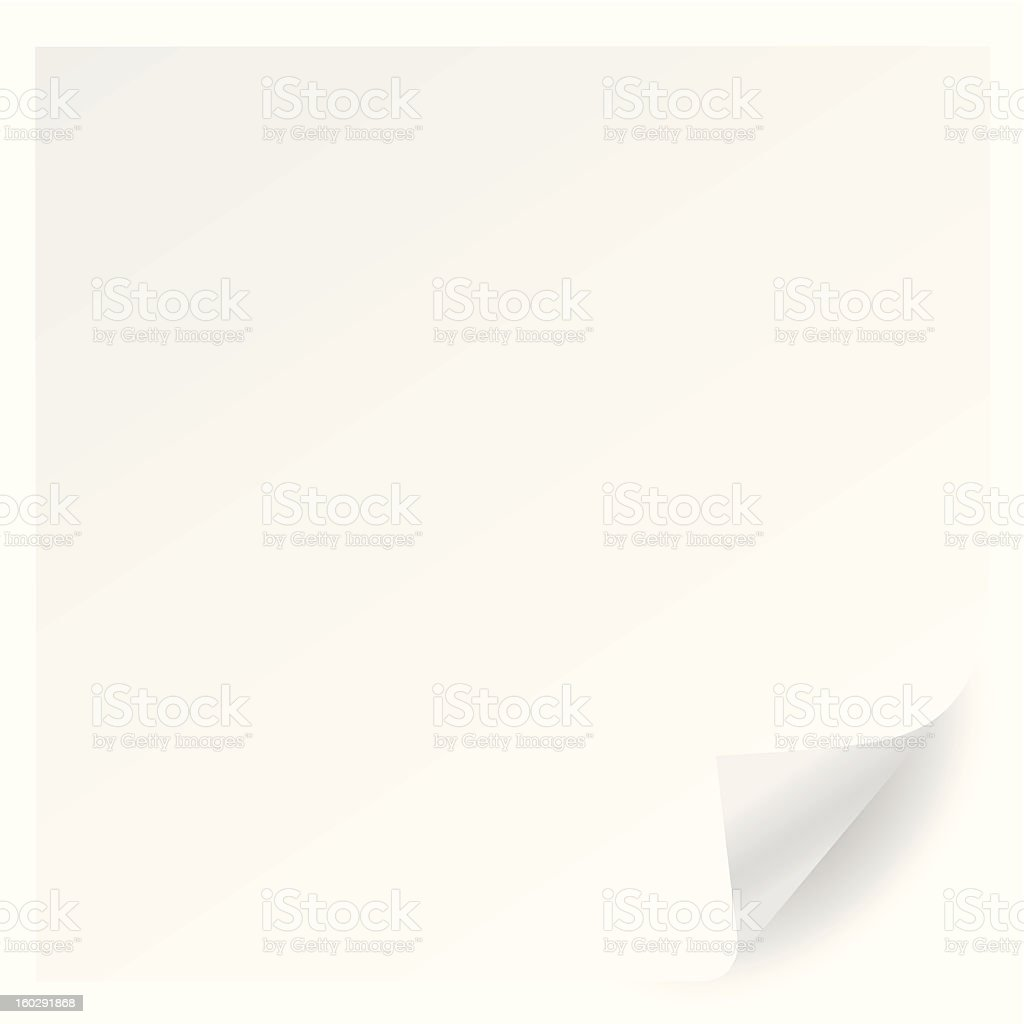 white page corner curl vector royalty-free stock vector art