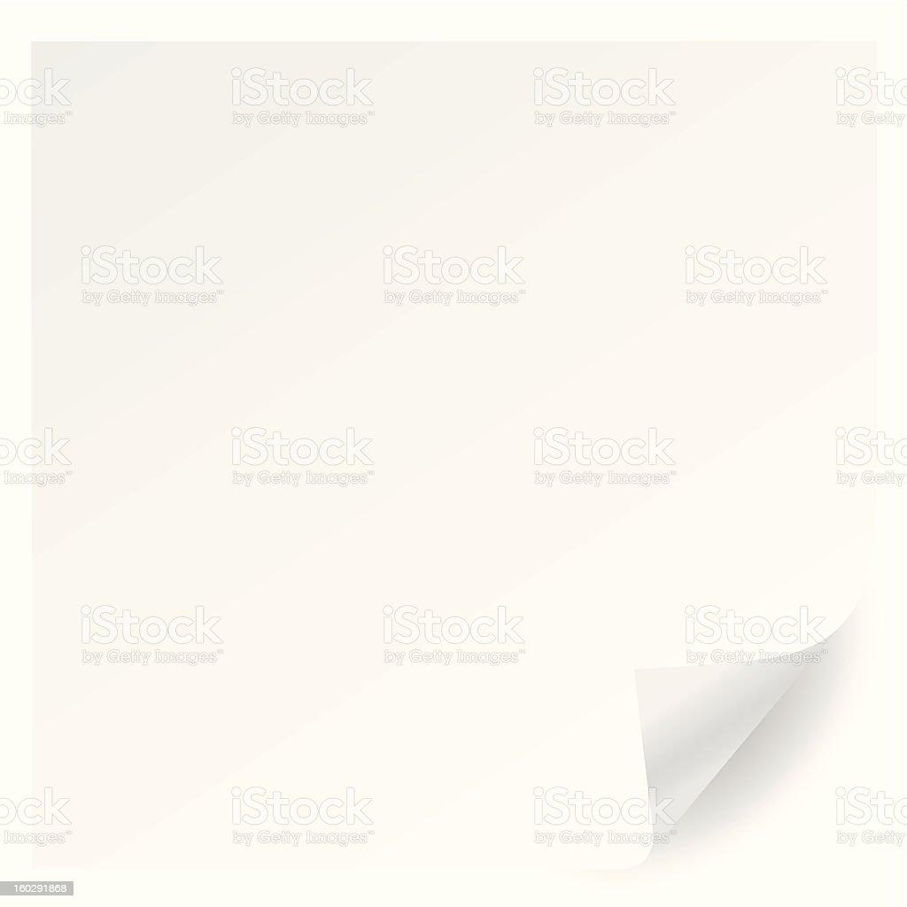 white page corner curl vector vector art illustration