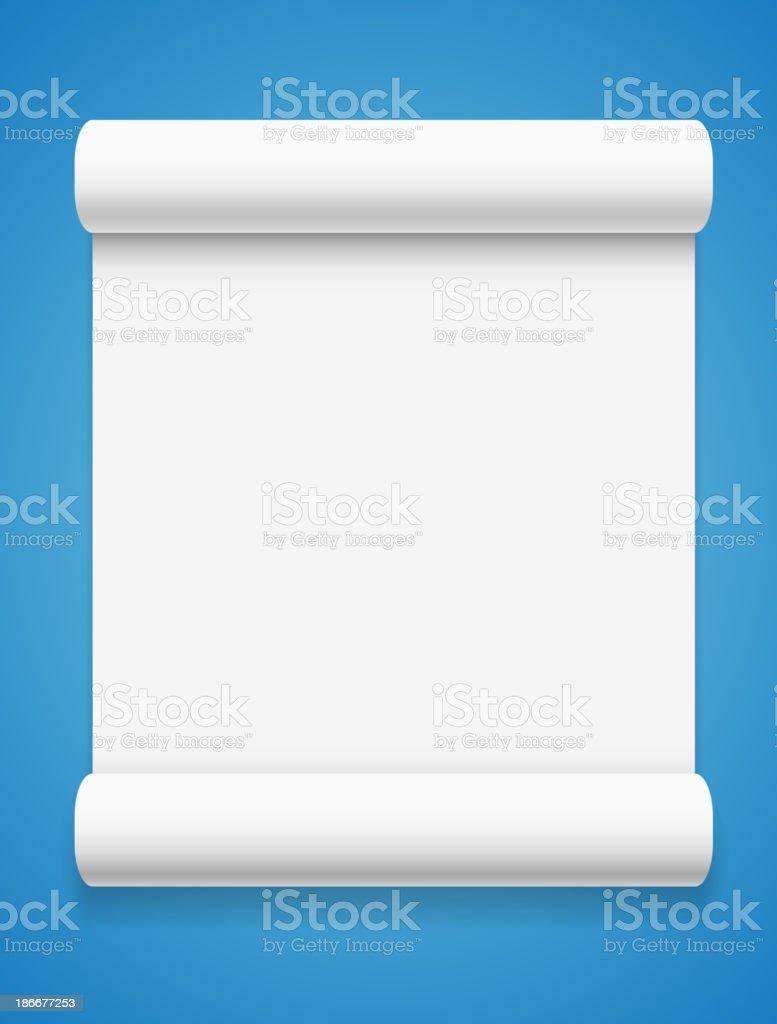 White paper on blue background vector art illustration