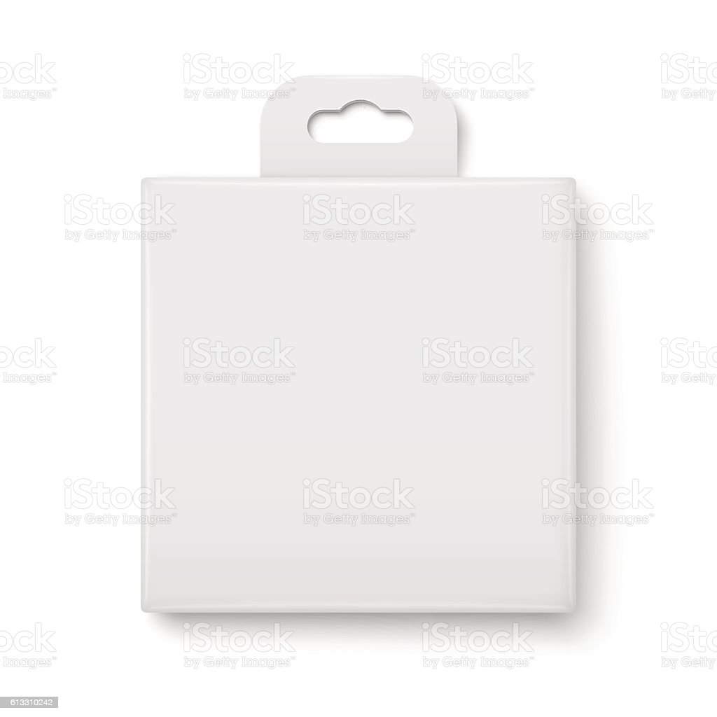 White paper packaging box. vector art illustration