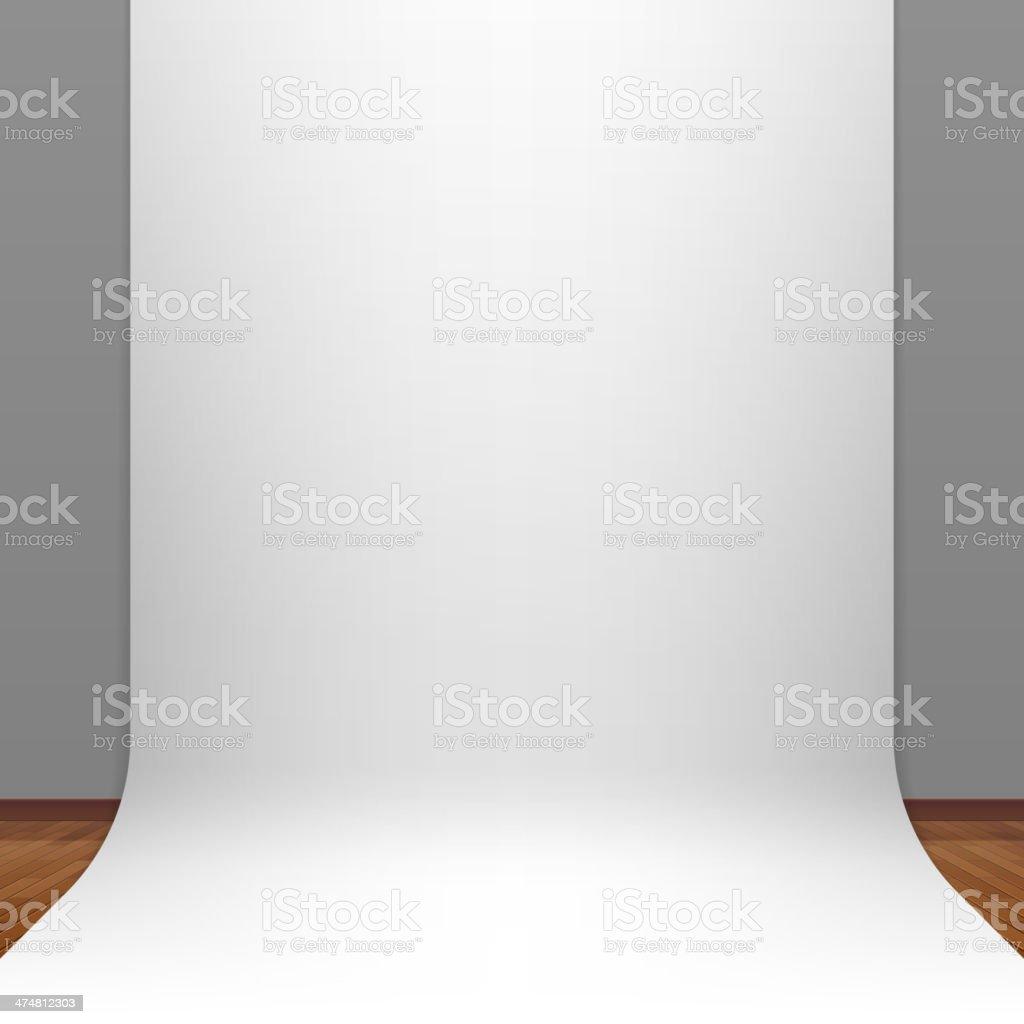 White paper studio backdrop vector art illustration