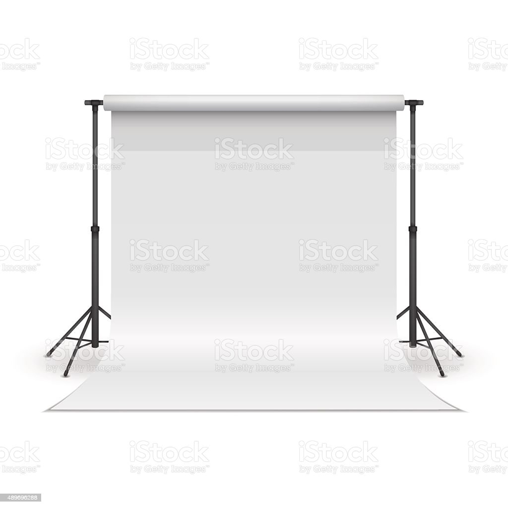 White paper studio backdrop. vector art illustration