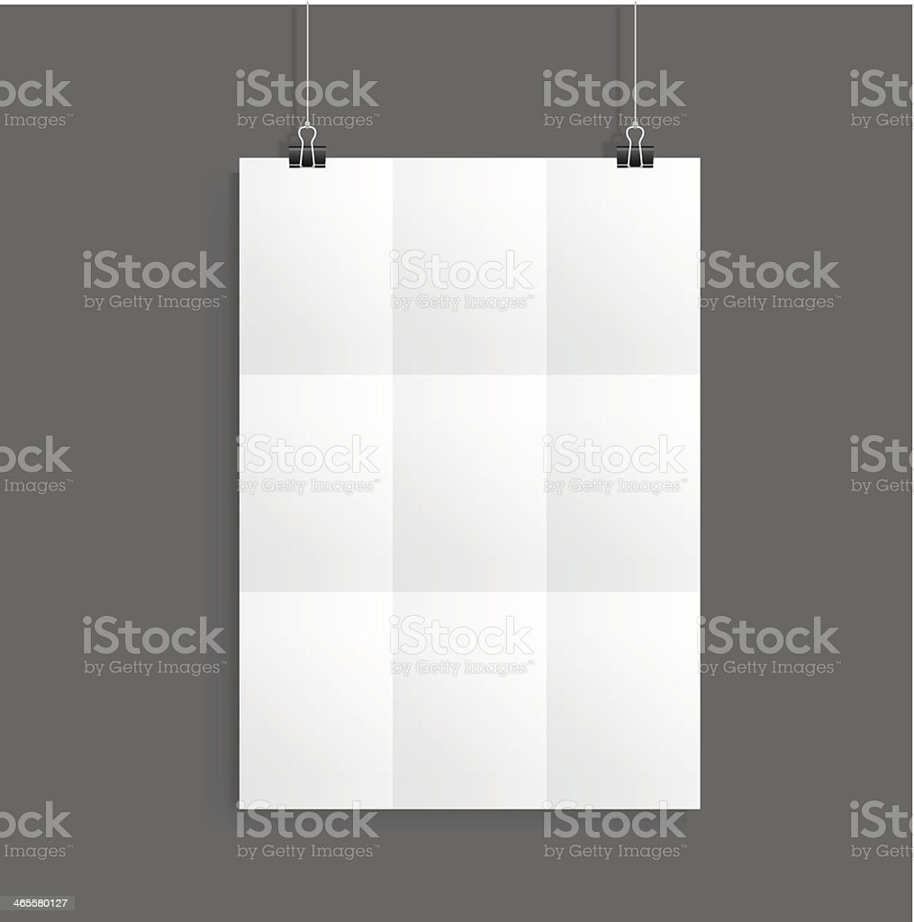 white paper with clip vector royalty-free stock vector art