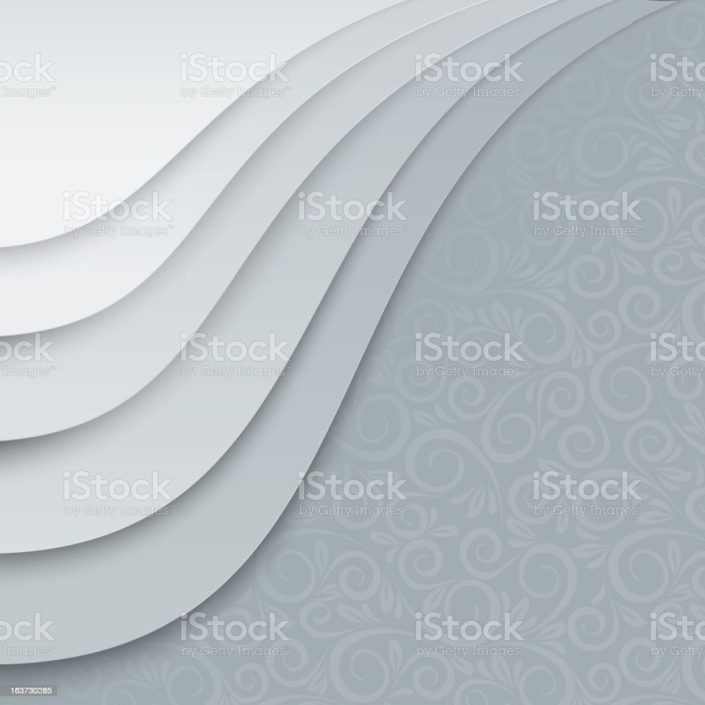 White papers with corner curl royalty-free stock vector art