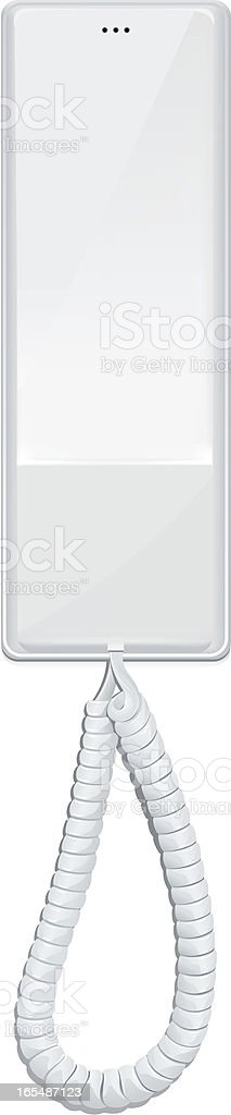 White Phone royalty-free stock vector art