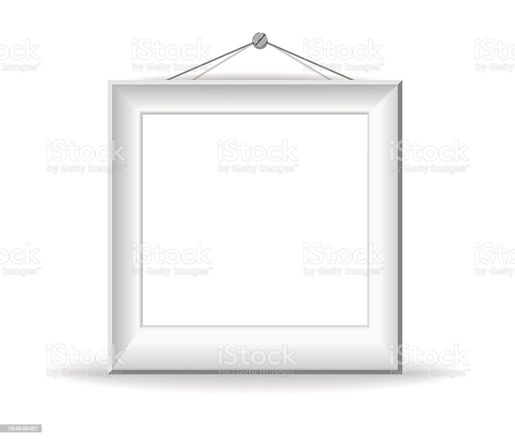 White picture frame royalty-free stock vector art