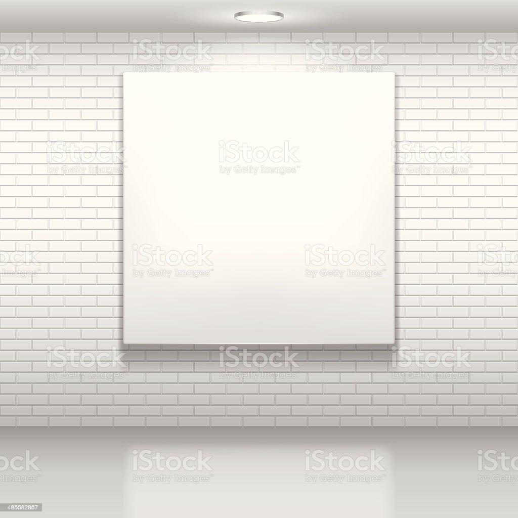 White picture. vector art illustration