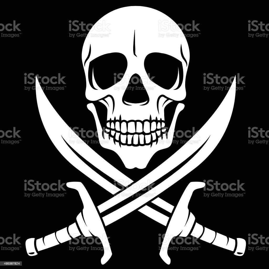 White pirate symbol royalty-free stock vector art