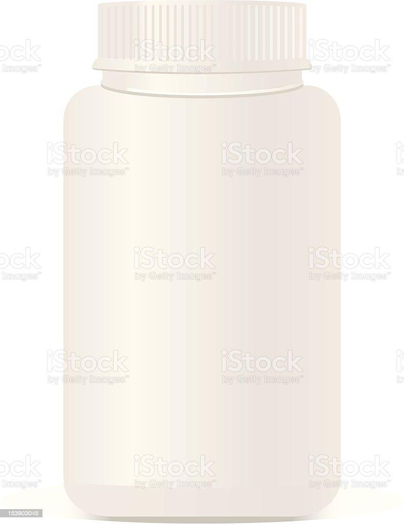 White plastic bottle isolated. royalty-free stock vector art