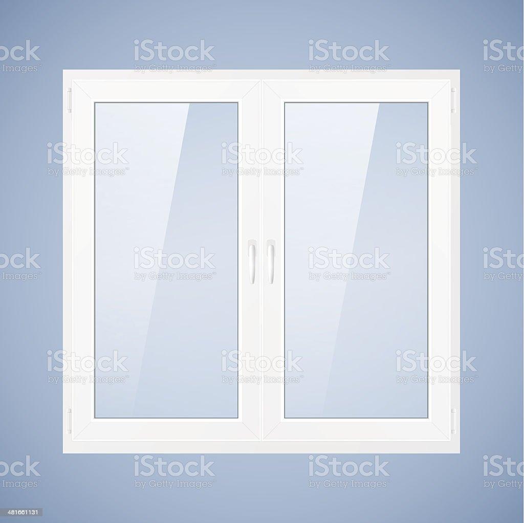 White plastic window vector art illustration