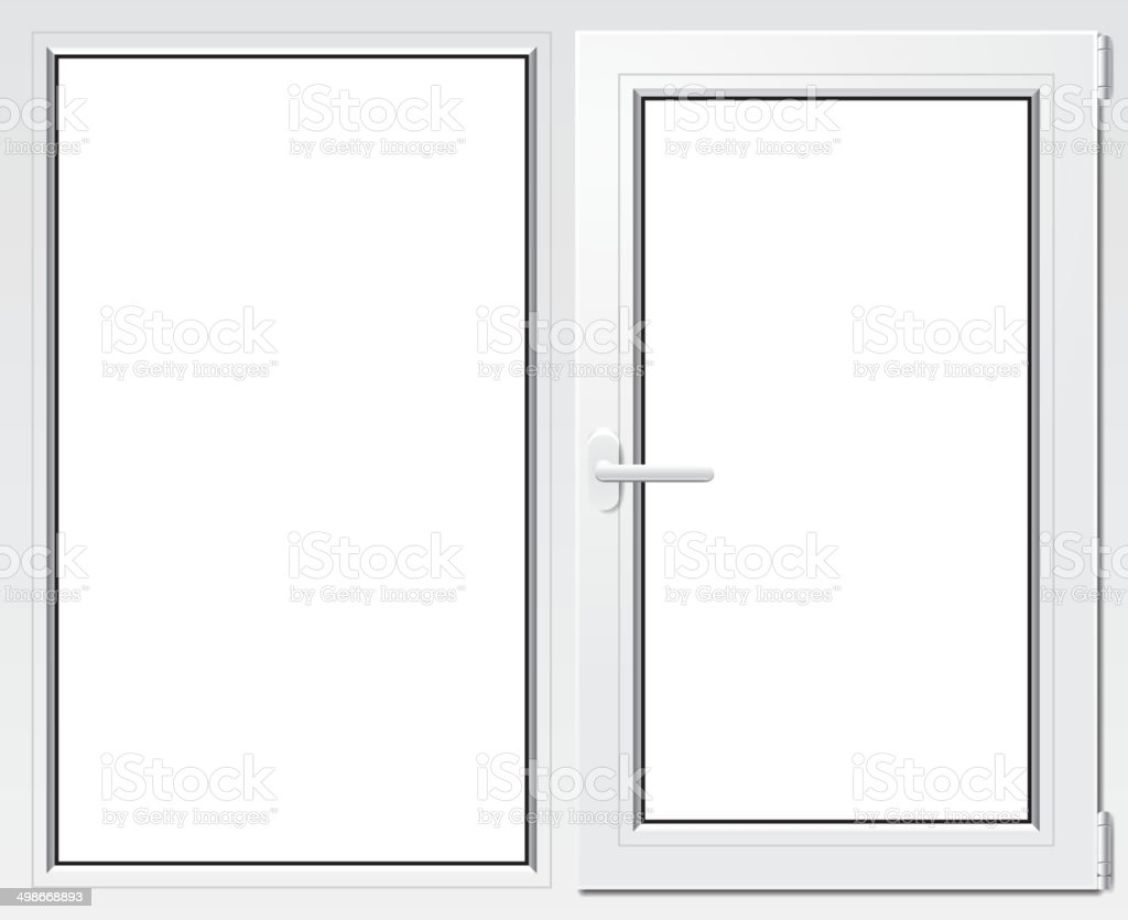 White plastic window vector illustration vector art illustration